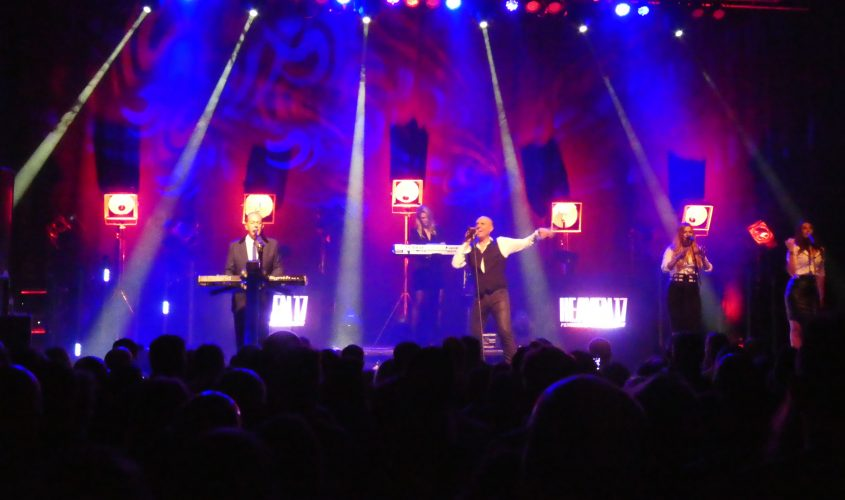 "Heaven 17 ""Penthouse And Pavement"" 35th anniversary UK tour, October 2016. Lighting design and lighting equipment by Martin's Lights."